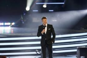 Ryan Seacrest hosting American Idol last month. The TV and radio personality now has hosting contracts with all four major US broadcasters.