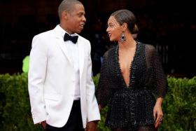 Beyoncé and Jay Z finally at a red carpet event last month. Footage from their private wedding in 2008 was shown for the first time as the power couple kicked off their tour on Wednesday.
