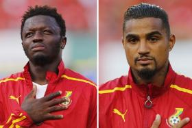 Ghana have sent midfielders Sulley Muntari (left) and Kevin-Prince Boateng (right) packing ahead of their crucial Group G clash against Portugal.
