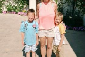 US singer Britney Spears shared a photo of herself with her kids on Instagram on Tuesday (June 14).