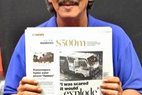 HOTLINE CALLER: Mr Syed Yasin alerted TNP to the blaze from the Certis Cisco van.
