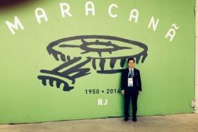 Fifa disciplinary committee deputy chairman Lim Kia Tong at on duty at the 2014 World Cup at the Maracana Stadium in Rio De Janeiro.