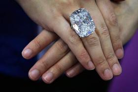 SPARKLER: The 50.55-carat diamond is nicknamed The White Fire for its colourless quality and purity.