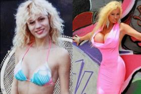 Before and after pictures of Lacy Wildd.