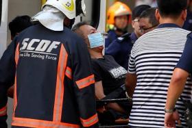 INJURED: The man was taken to Changi General Hospital.