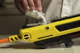 This air rifle, Bug-A-Salt, gets rid of creepy crawlies without mess using ordinary table salt.