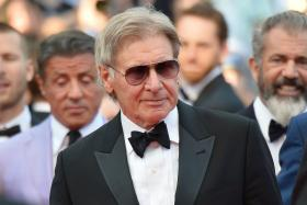"Member of the cast of ""The Expendables 3"", US actor Harrison Ford poses on the red carpet during the 67th edition of the Cannes Film Festival in Cannes, southern France, on May 18, 2014. Photo: AFP"