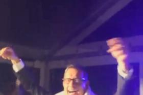 Tom Hanks was caught on camera as he grooved to Montell Jordan's This Is How We Do It.