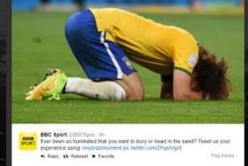 BBC Sport's Twitter feed started a new hashtag, #mybrazilmoment, after Brazil were humbled 7-1 by Germany in their World Cup semi-final.