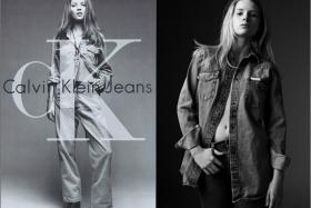 Looks like Kate Moss' half sister, Lottie (right),  who recently proved she too has the modelling gene, is following in her footsteps. Check out the recently released Calvin Klein Jeans X Mytheresa.com ad shots.
