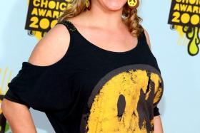 A file photo of actress Skye McCole Bartusiak at Nickelodeon's 2008 Kids' Choice Awards in California. She died on Saturday at the age of 21.