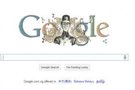 "A Google doodle wishing Zubir Said a ""Happy Birthday""."