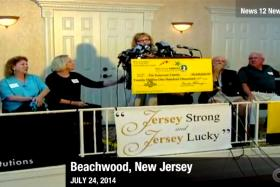 A screen grab of a news report by CNN showing a few of the Endreson siblings collecting the US$20.1 million (S$25m) jackpot.