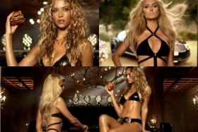 Paris Hilton makes a cameo appearance in the latest Carl's Jr. advertisement as Sports Illustrated model Hannah Ferguson fronts the production.