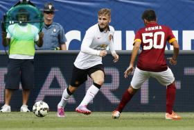 Luke Shaw in action against AS Roma during a pre-season friendly.