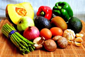 UN's World Health Organisation recommends taking five portions of fresh fruit and vegetables every day. One portion is 80g or  roughly equivalent to a medium-sized apple, a bowl of mixed salad or three dessert spoonfuls of raw, cooked, canned or frozen vegetables.