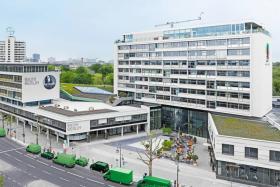 The exterior of 25hours Hotel Bikini Berlin in Germany.