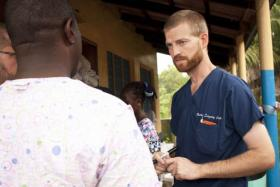 This undated handout photo, courtesy of Samaritan's Purse,  shows Dr. Kent Brantly near Monrovia, Liberia.