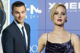 Nicholas Hoult (left) and Jennifer Lawrence.