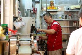 Former Five Star Tours boss Ken Lim Cheng Chuan is constantly busy at the Chinatown drinks stall where he now works.