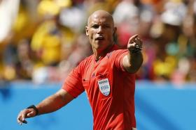 English referee Howard Webb in action during the 2014 World Cup in Brazil.