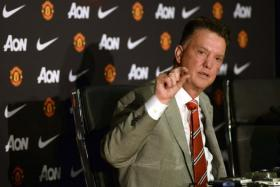 Manchester United manager Louis Van Gaal speaking to the media during a news conference at the club's Old Trafford Stadium in Manchester on July 17, 2014.