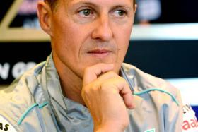 File photo of Michael Schumacher. The suspect in the theft and leaking of Schumacher's medical file was found hanged in his cell.
