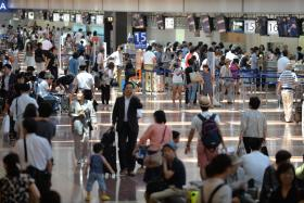 A file photo of check-in area of All Nippon Airways (ANA) at Tokyo's Haneda airport.