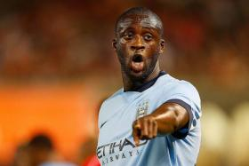 WE BUILT THIS CITY: With the likes of Stevan Jovetic, Joe Hart, Yaya Toure (above) and Samir Nasri in their ranks, City remain favourites for the title.