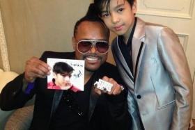 Miguel Antonio is slated for an exciting professional singing career especially because he is working under apl. de. ap, who is part of the Black Eyed Peas.