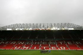 View of Manchester United's stadium, Old Trafford.