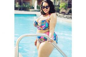 """Blogger Gabi Fresh posing in a bikini. She is widely acknowledge to have first used the term """"Fatkini"""" back in 2012."""