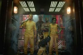 Cinema still from Guardians Of The Galaxy. They have protected the Universe, topped the box office and now, the music charts.