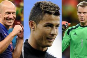 Arjen Robben, Cristiano Ronaldo and Manuel Neuer are up for UEFA's Best Player in Europe Award.