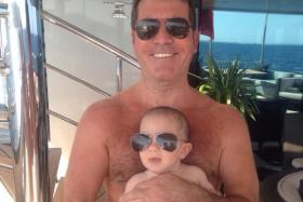 Simon Cowell posted a picture of himself and son Eric on Twitter.