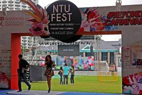 INAUGURAL: The NTU Fest is made up of a 4.8km run, a carnival and a concert.