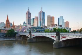 The Melbourne skyline.