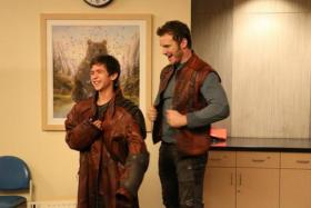 Chris Pratt donned his Star-Lord costume and visited sick children in a hospital in LA.