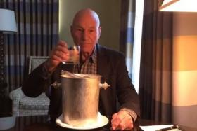 Patrick Stewart, putting the class back into answering challenges.