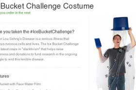 The Ice Bucket Challenge Costume is now being sold online at website Brands on Sale.