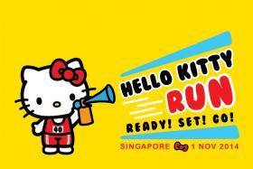 Hello Kitty will celebrate her 40th birthday through the inaugural Hello Kitty Run Singapore come this November.