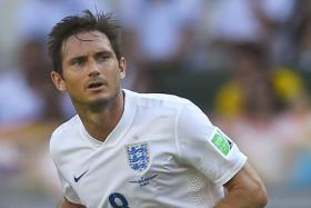 Frank Lampard in the Group D football match between Costa Rica and England at The Mineirao Stadium in Belo Horizonte on June 24 during the 2014 FIFA World Cup.