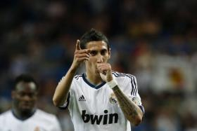 Angel Di Maria, swapping the white of Real for the red of Manchester United