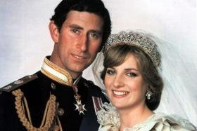 A slice of cake from the wedding of Prince Charles and the late Princess Diana 33 years ago just sold at an auction in Los Angeles.