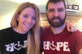 Rachelle Friedman and her husband Chris.