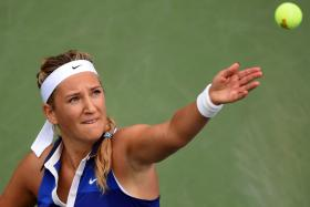 Victoria Azarenka lost patience with questions over her season-disrupting foot injury on Monday.