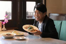 FOODIE: Veteran TV host Spencer Leung loves the spicy food here, but said Hong Kong's wonton noodles is the best in the world.