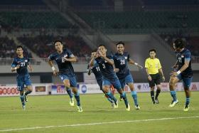 TOP GUN: Sahil Suhaimi (No. 3) is expected to lead the line for the Singapore Under-23 side at the Asian Games.