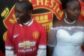 This Kenyan supported took his love for the Red Devils to a whole other level. Unfortunately, his wife didn't look too happy on their wedding day.