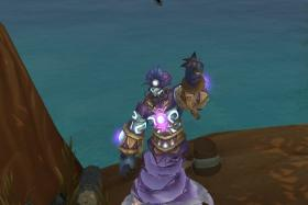 """In a test version of Warlords of Draenor, the upcoming expansion for the massively multiplayer online role-playing game, a futuristic character named Robin emerges from a lamp to quote two lines from Disney's """"Aladdin"""" genie, who was voiced by Robin Williams."""